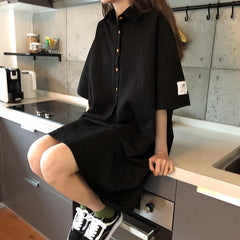 Buy cheap Aesthetic clothes CASUAL SHIRT LOOSE THIN SUMMER DRESS 30% OFF - NORMCORE STUDIOS