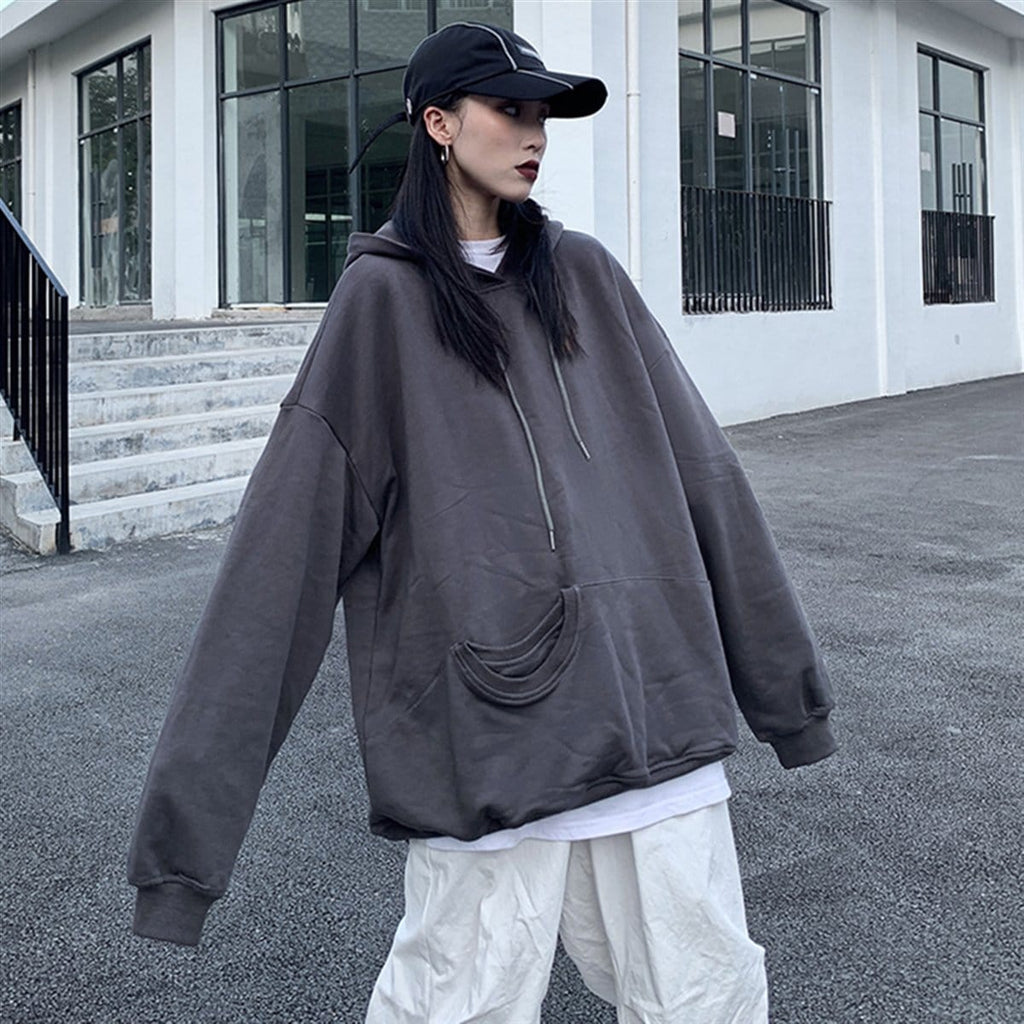 Buy cheap Aesthetic clothes GRAY ORANGE INTERNET GIRL OVERSIZED HOODIE 30% OFF - NORMCORE STUDIOS