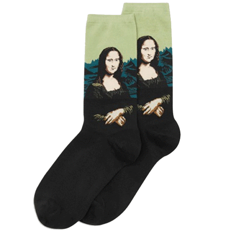 itGirl Shop MONA LISA SOCKS Aesthetic Apparel, Tumblr Clothes, Soft Grunge, Pastel goth, Harajuku fashion. Korean and Japan Style looks