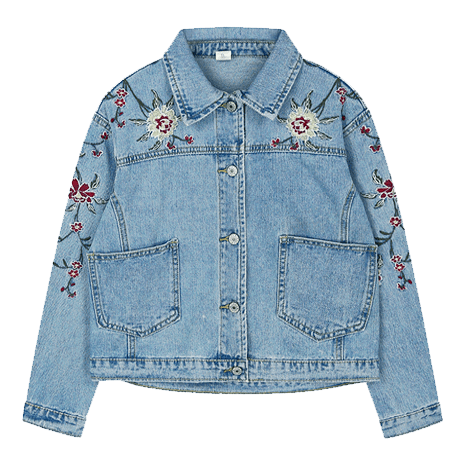 itGirl Shop ROSES CUTE EMBROIDERY DENIM JACKET Aesthetic Apparel, Tumblr Clothes, Soft Grunge, Pastel goth, Harajuku fashion. Korean and Japan Style looks