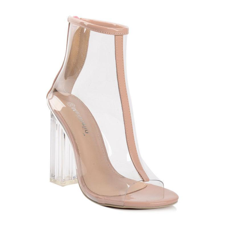 Buy cheap Aesthetic clothes TRANSPARENT SHOES GLASS HEEL 30% OFF - NORMCORE STUDIOS