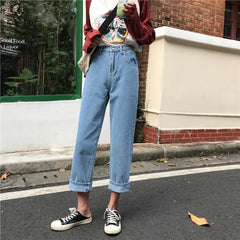 Buy cheap Aesthetic clothes CASUAL STRAIGHT HIGH WAISTED ROLLED UP PANTS 30% OFF - NORMCORE STUDIOS