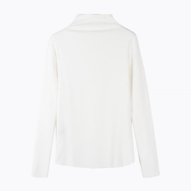 Buy cheap Aesthetic clothes HALF HIGH COLLAR SLIM SOLID COLOR BASIC LONG SLEEVE SHIRT 30% OFF - NORMCORE STUDIOS