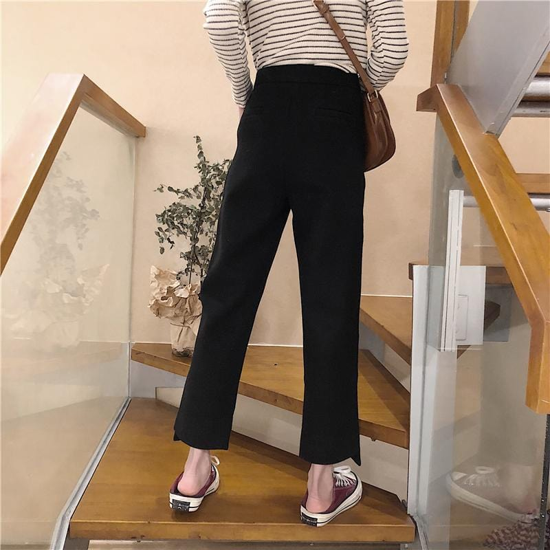 Buy cheap Aesthetic clothes CLASSIC STRAIGHT LIGHT ORIGINAL CROPPED PANTS HIGH-WAIST 30% OFF - NORMCORE STUDIOS