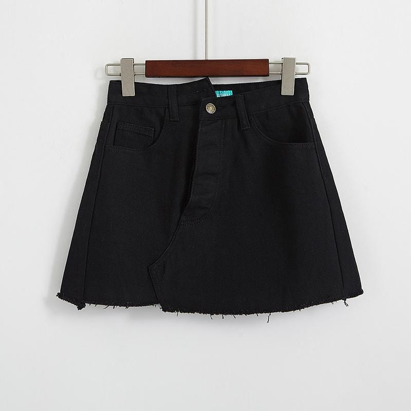 Buy cheap Aesthetic clothes BASIC SKIRT HIGH-WAISTED ORIGINAL TEEN 30% OFF - NORMCORE STUDIOS