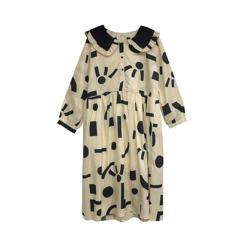 Buy cheap Aesthetic clothes LONG DRESS WITH GEOMETRICAL PRINT 30% OFF - NORMCORE STUDIOS