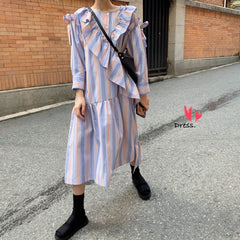 Buy cheap Aesthetic clothes SPRING COLORFUL TEXTURED DRESS WITH PATTERN 30% OFF - NORMCORE STUDIOS