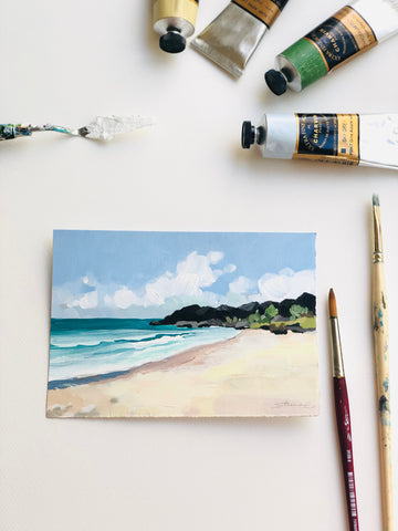 Seascape-One fine day at the beach