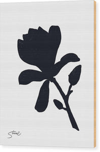 Black Magnolia - Wood Print