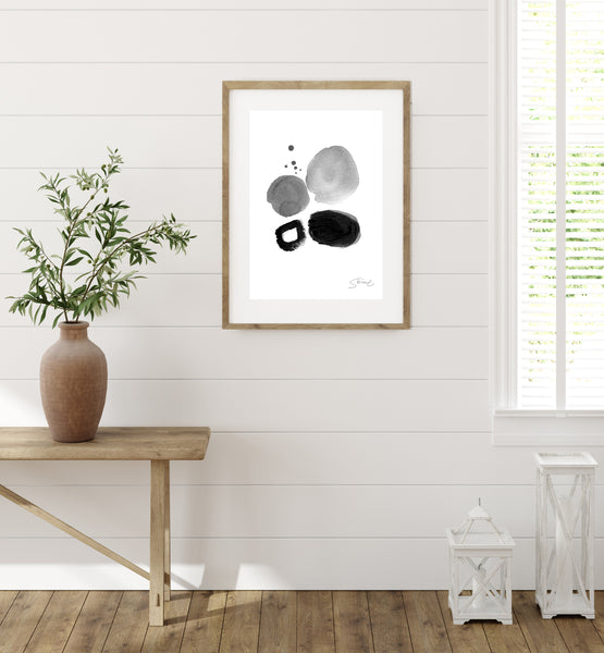 Black and White No.1 - Art Print