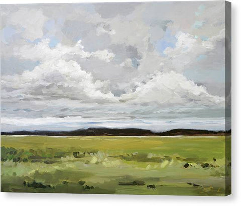 Cloudy Land - Canvas Print