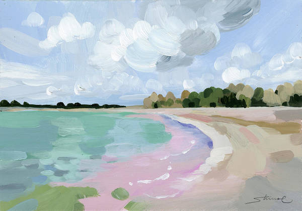 PInk Dreamy Beach - Art Print