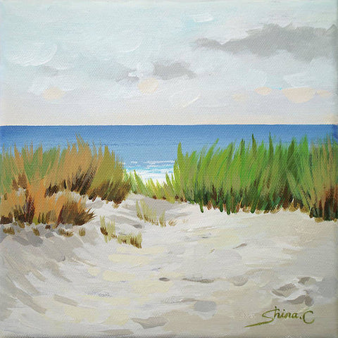 White sand beach way  - Art Print