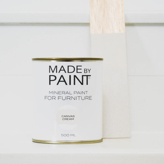 canvas cream, made by paint, mineral paint, function by design paint & furniture