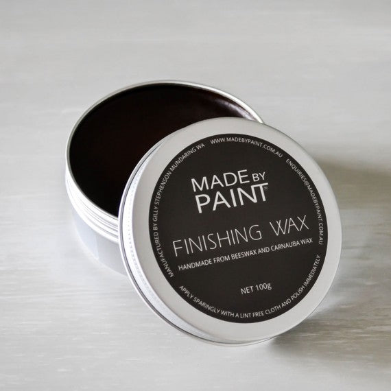 made by paint, function by design, finishing wax dark, beeswax dark