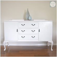 Load image into Gallery viewer, white coastal buffet sideboard custom painting function by design