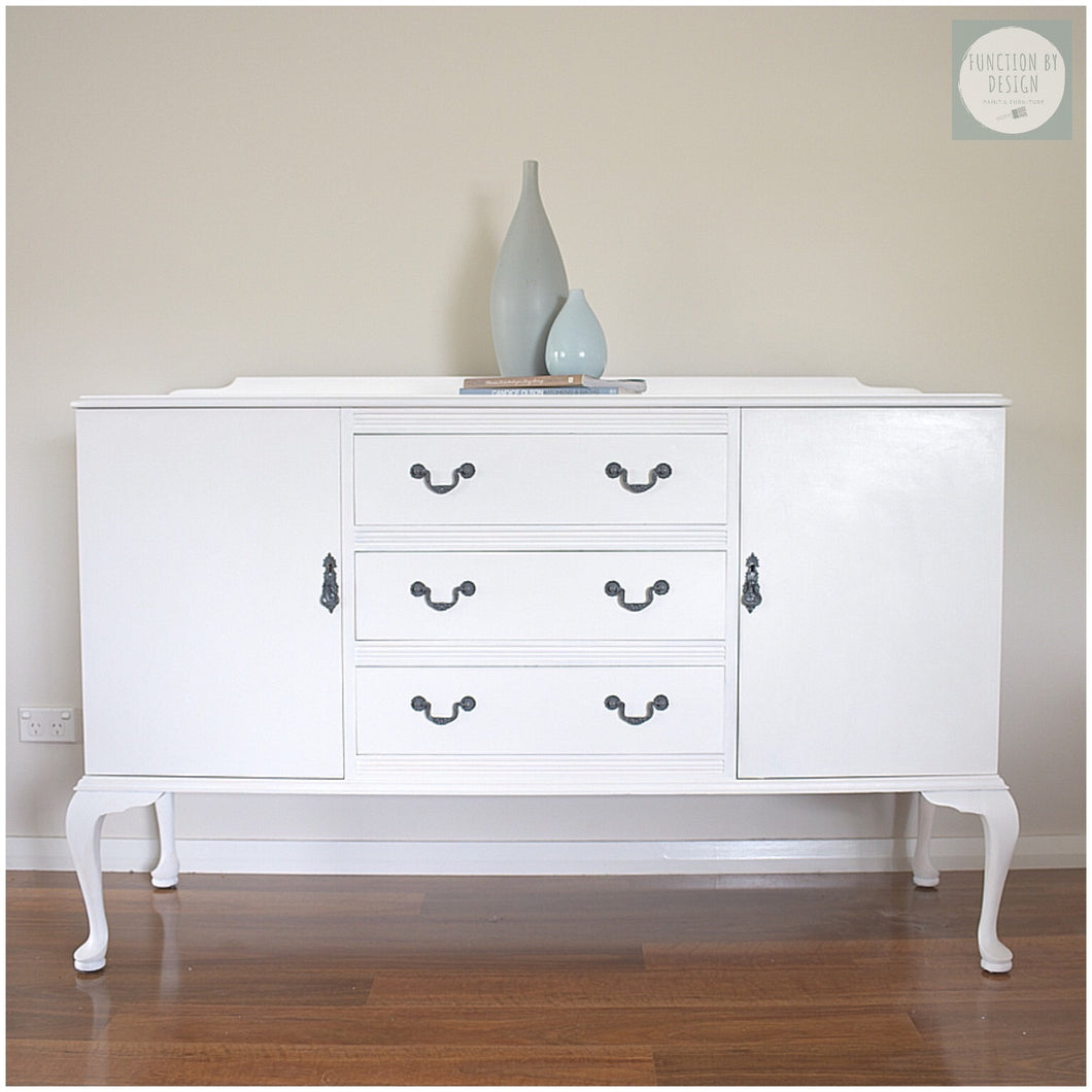 white coastal buffet sideboard custom painting function by design
