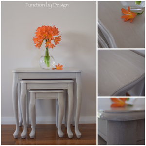 Function by design furniture painting beige nest of tables