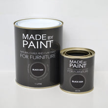 Load image into Gallery viewer, made by paint, function by design, black ash, chalk and clay paint