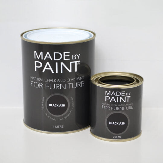 made by paint, function by design, black ash, chalk and clay paint