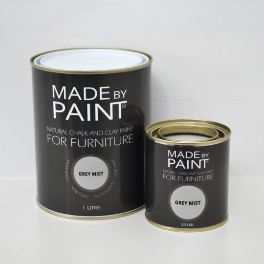 made by paint, function by design, grey mist, chalk and clay paint