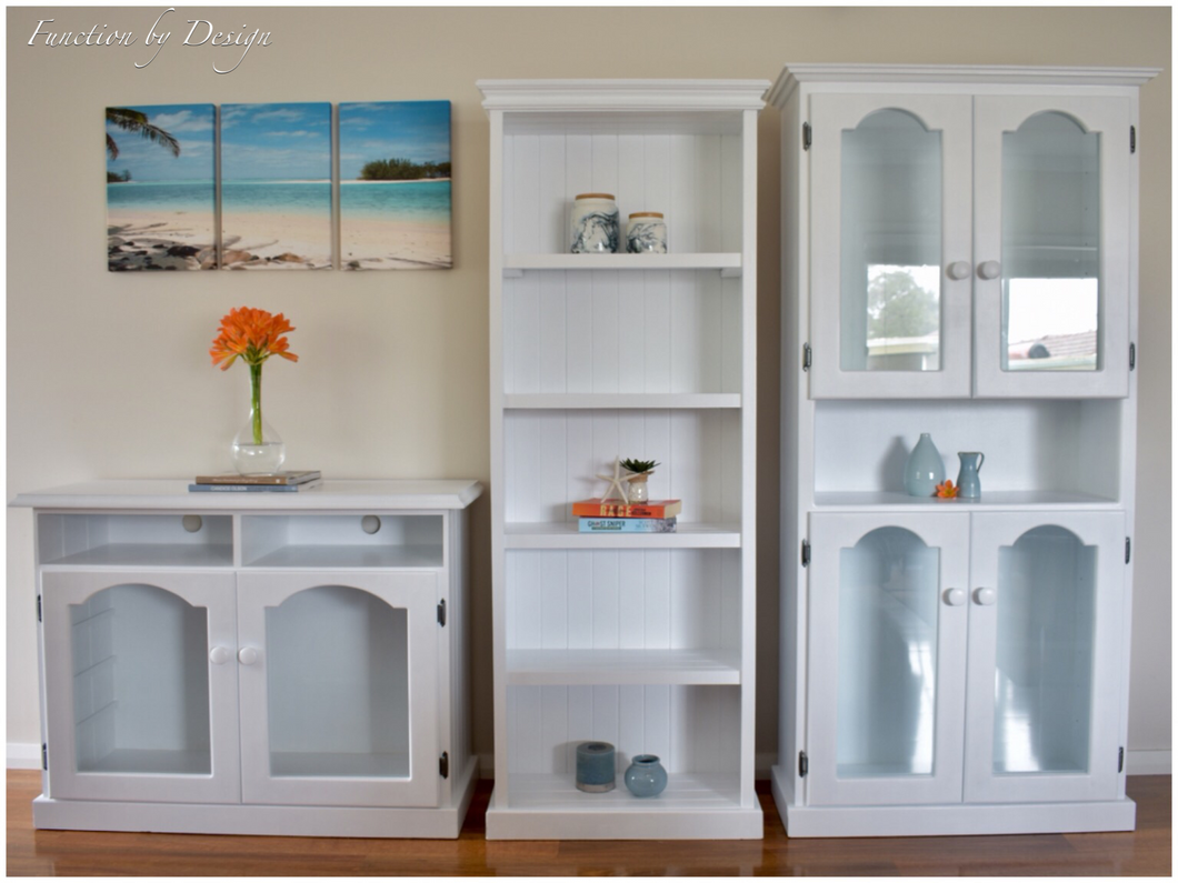 custom furniture painting Function by Design white cabinets