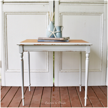 Load image into Gallery viewer, white side table coastal sweet pickins milk paint function by design