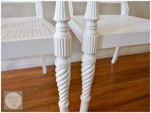 CUSTOM FURNITURE PAINTING - Pair of Ornate Chairs
