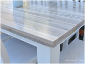 CUSTOM FURNITURE PAINTING - Whitewashed Dining Suite