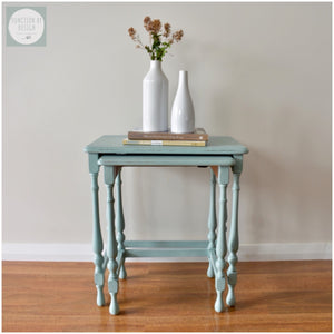 SOLD - Nest of Tables in Duck Egg Blue | Function by Design Paint & Furniture