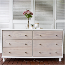 Load image into Gallery viewer, Function by Design furniture painting white whitewashed six drawer dresser