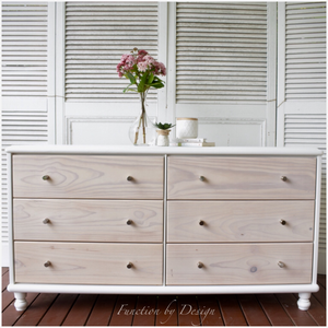 Function by Design furniture painting white whitewashed six drawer dresser