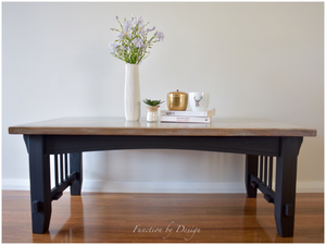 Function by Design furniture painting Sweet Pickins Milk Paint Lantern black coffee table with driftwood finish on top