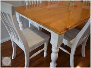 CUSTOM FURNITURE PAINTING - White Dining Set
