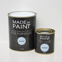 Load image into Gallery viewer, made by paint, function by design, old blue, chalk and clay paint