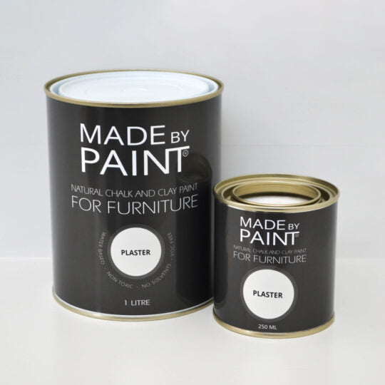 made by paint, function by design, plaster, chalk and clay paint