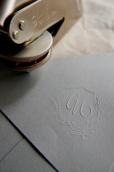 Bespoke Monogram Design & Embossing Stamp