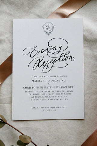 Oriana Evening Reception Invitation Card