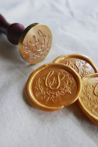Bespoke Monogram Design & Wax Seal Stamp