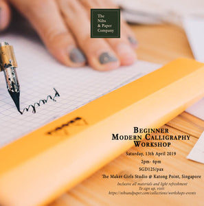 Beginner Modern Calligraphy Workshop - 13th April 2019 - Singapore