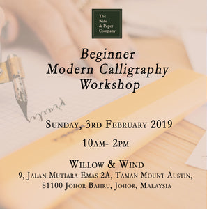 Beginner Modern Calligraphy Workshop - 3rd February 2019