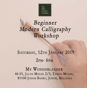 Beginner Modern Calligraphy Workshop - 12th January 2019