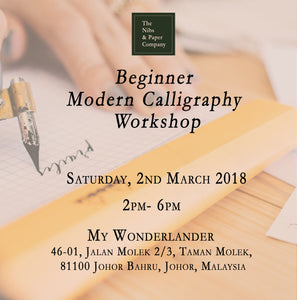 Beginner Modern Calligraphy Workshop - 2nd March 2019