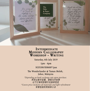Intermediate Calligraphy Workshop - Writing