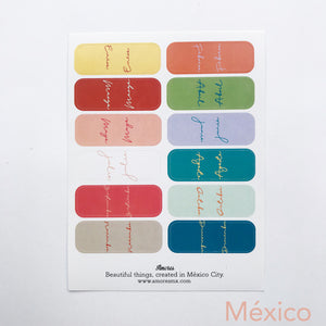 -50% Stickers Pestañas de Meses