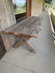 Ironbark Table with Cross-Legs