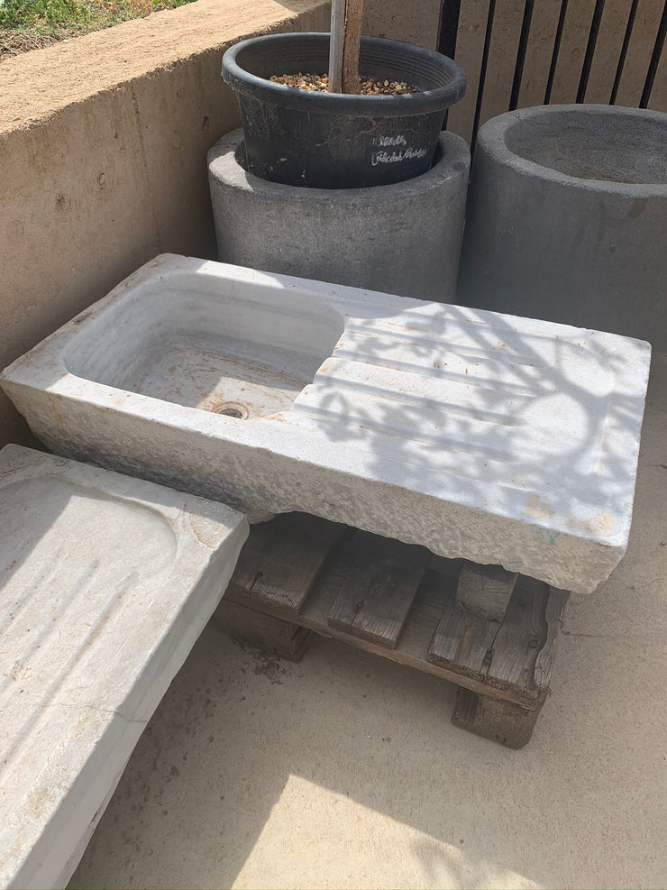 Marble Sink with Drip Tray