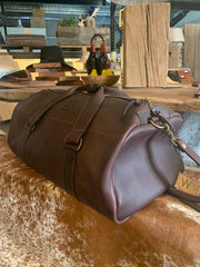 All Leather Duffle Bag