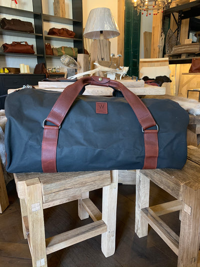 Leather & Canvas Duffle Bag