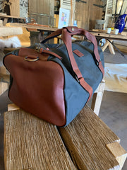 Leather & Canvas Kit Bag